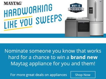 Win a Maytag Washer and Dryer and a French Door Refrigerator