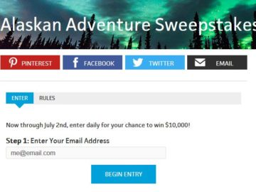 Win $10,000 Cash in Travel Channel's Alaskan Adventure Sweeps