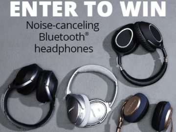 Win a Pair of Crutchfield Bluetooth Noise-Cancelling Headphones