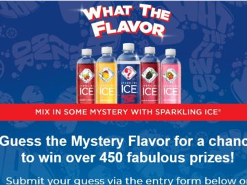 "Sparkling Ice ""What The Flavor"" Sweepstakes (Facebook)"