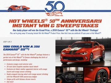 Hot Wheels 50th Anniversary Instant Win & Sweepstakes
