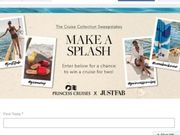 Win A Cruise For Two With JustFab X Princess Cruises