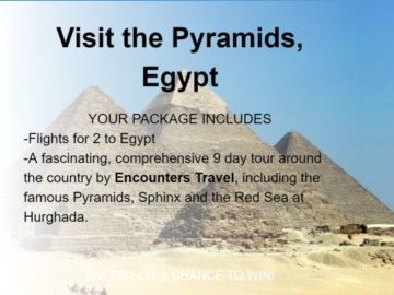 Visit the Pyramids, Egypt Sweepstakes