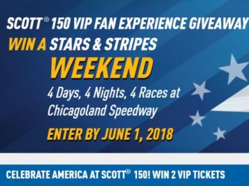 Scott 150 VIP Fan Experience Giveaway Sweepstakes