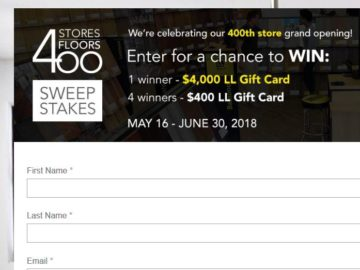 Win a $4,000 Lumber Liquidators Gift Card