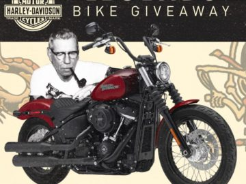 Win a custom-painted 2018 Harley-Davidson Street Bob Motorcycle
