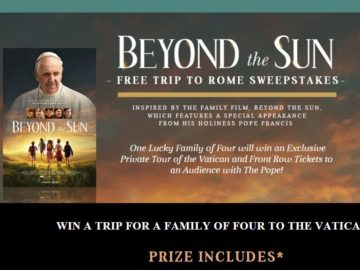 Grace Hill Media Beyond the Sun Rome Trip Sweepstakes