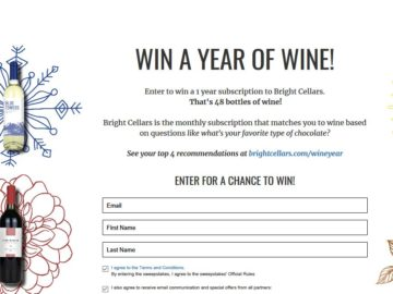 Win a Year of Wine