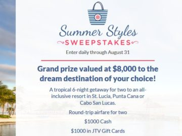 Jewelry TV Summer Styles Sweepstakes