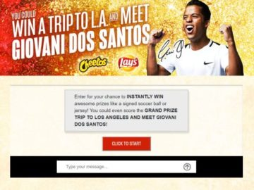 Cheeto's and Frito Lay Soccer Promotion Sweepstakes