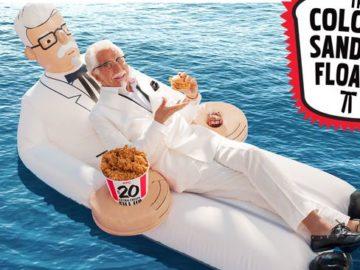 Win a Colonel Sanders Pool Floatie!