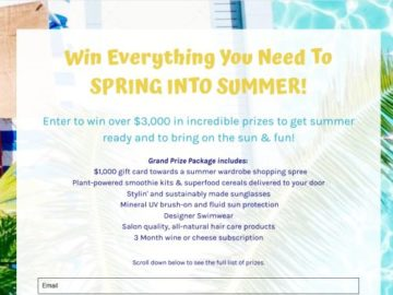 Spring into Summer Sweeptakes