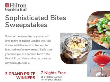 Hilton Sophisticated Bites Sweepstakes