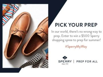 Sperry Top-Sider Pick Your Prep – Sweepstakes