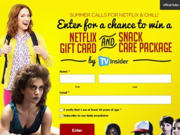 Win a $50 Netflix Gift Card and a $40 Snack Care Package (Facebook)