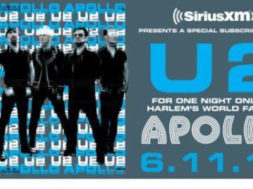 SiriusXM U2 at The Apollo Theater Sweepstakes