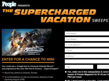 PEOPLE Supercharged Vacation Sweepstakes