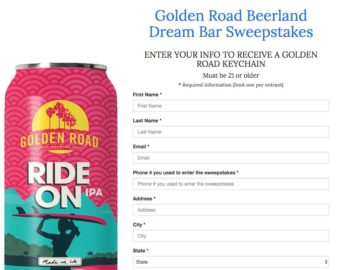 Golden Road Beerland Dream Bar Sweepstakes