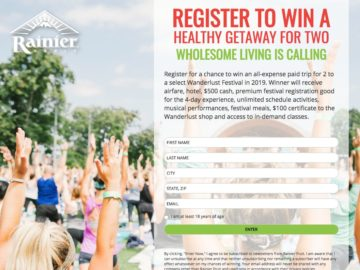 Rainier Fruit Company Ultimate Yoga & Music Festival Sweepstakes