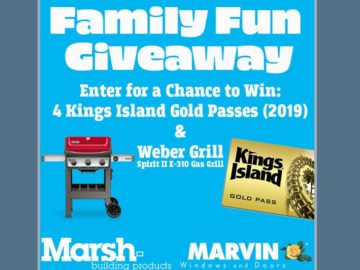 Win Four 2019 Kings Island Gold Passes and a Weber Spirit II E-310 Gas Grill (Facebook)