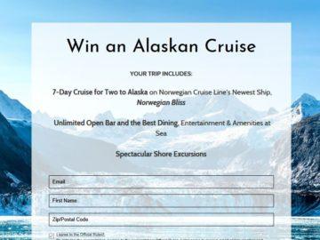Norwegian Alaskan Adventure Cruise Sweepstakes