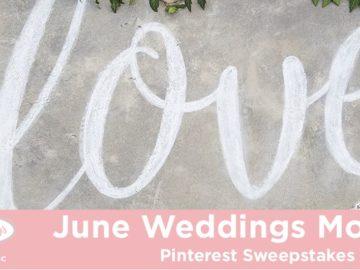 Hallmark Channel's June Weddings Moments Pinterest Sweepstakes (Pinterest)
