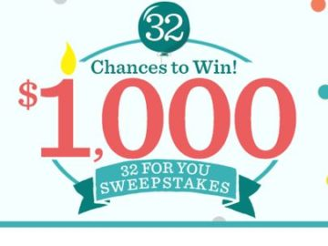 QVC's 32 For You Sweepstakes