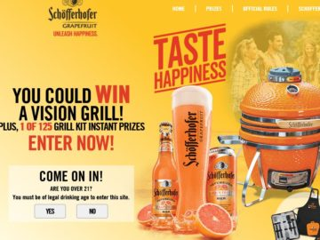 "Schofferhofer Grapefruit ""Taste Happiness"" Sweepstakes and Instant Win"