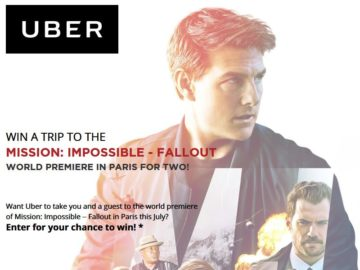 Mission Impossible Fallout Sweepstakes