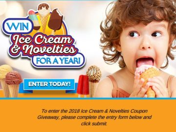 Win Ice Cream for a Year