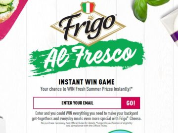 Frigo Cheese Al Fresco Instant Win Game and Sweepstakes