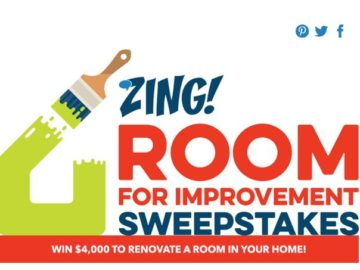 Zing Room for Improvement Sweepstakes