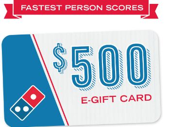 Win a $500 Domino's Pizza Gift Card (Quikly)