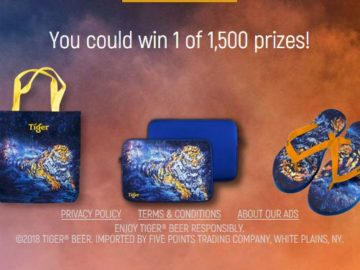 Tiger Scratch the Record Sweepstakes and Instant Win Game