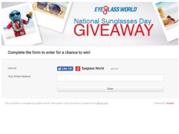 National Sunglasses Day Sweepstakes