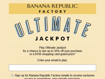 Banana Republic Factory Ultimate Jackpot Sweepstakes