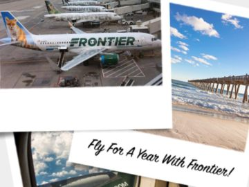 Frontier's Free Flights for a Year Sweepstakes