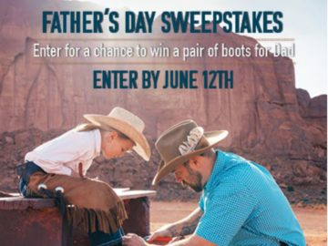 """Boot Barn """"Father's Day"""" Sweepstakes"""