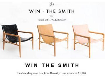Barnaby Lane Smith Chair Sweepstakes
