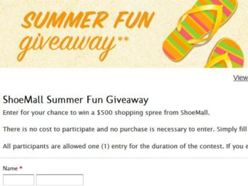 ShoeMall Summer Fun Sweepstakes