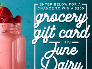 American Dairy Association Mideast Gift Card Sweepstakes (Facebook)