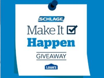 Schlage Make It Happen Sweepstakes