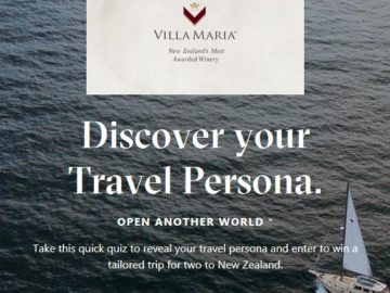 Villa Maria New Zealand Sweepstakes