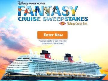 Disney Family Movies' Fantasy Cruise Sweepstakes