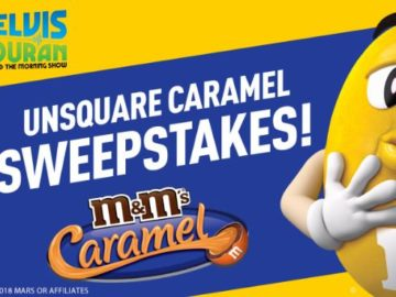Elvis Duran M&M'S UNSQUARED CARAMEL Sweepstakes
