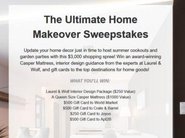 Joyus Ultimate Home Makeover Sweepstakes