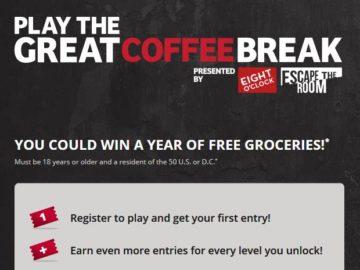 Eight O'Clock Coffee Great Coffee Break Sweepstakes