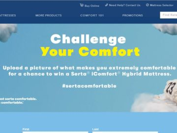 Serta Challenge Your Comfort Sweepstakes (Photo Submission)