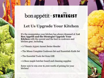 Let the Strategist and Bon Appetit Upgrade You Sweepstakes