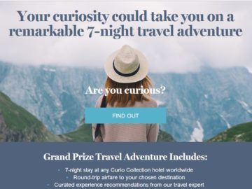 Curio Collection by Hilton Curious Travel Sweepstakes
